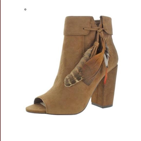 f715afc62edd New Jessica Simpson Peep Toe Bootie Block Heel 7.5